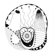 black and white drawings, channeled