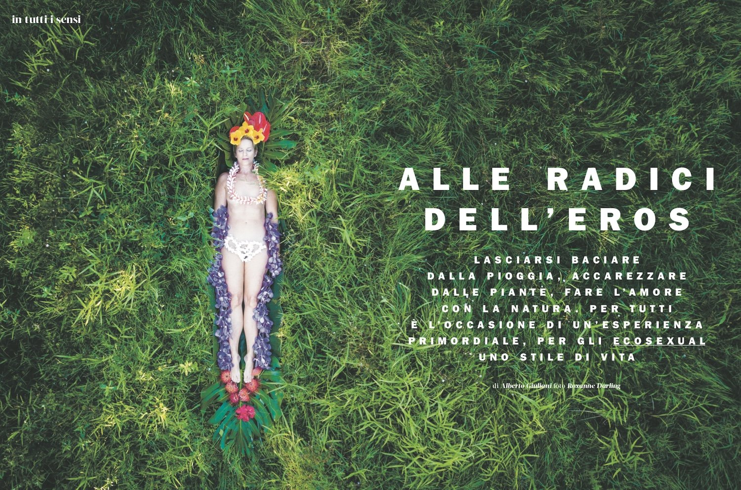 photo spread in Marie Claire Italia magazine with Roxanne Darling