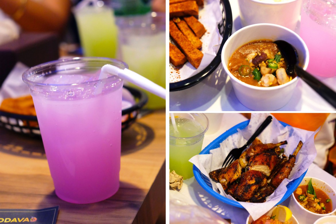Nestle's Mixology Drink, Spicy Gumbo Soup, Native Chicken