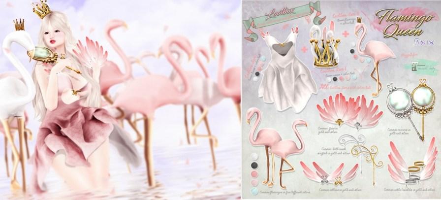 Axix Flamingo queen