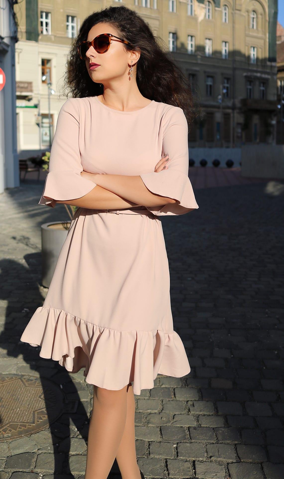 Roxi Rose Woman Fashion Ro Rochie Sacou Flared volanase