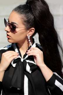 black white shirt camasa alb negru fontita bufanta ieftina online fashion blog outfit camasa eleganta roxi rose (8)
