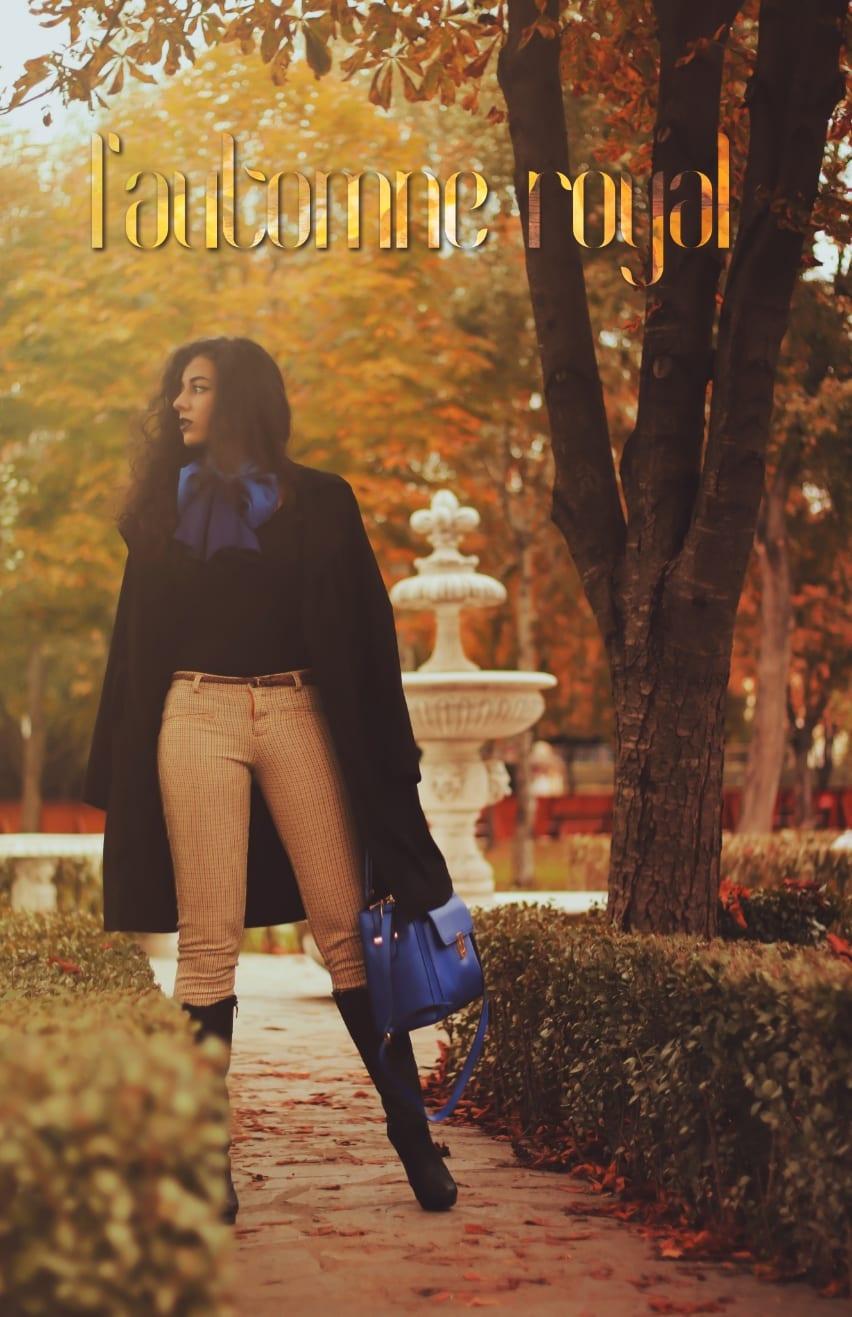 roxi rose uniconf body negru calarie roial vintage castel castle royal blue autumn toamna fall outfit