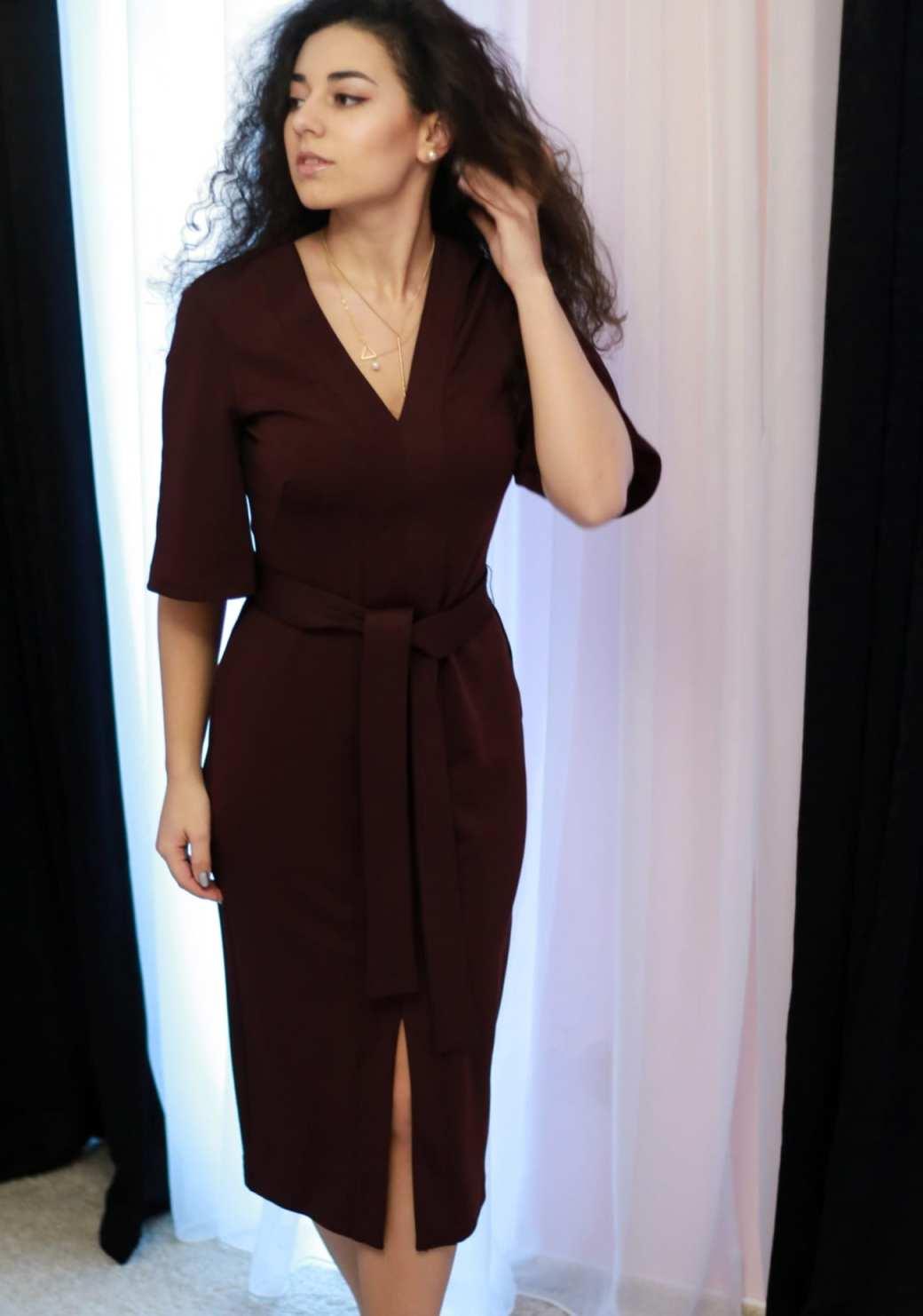 femei rochie visinie dama burgundy dress womanfashion.ro calitate quality material