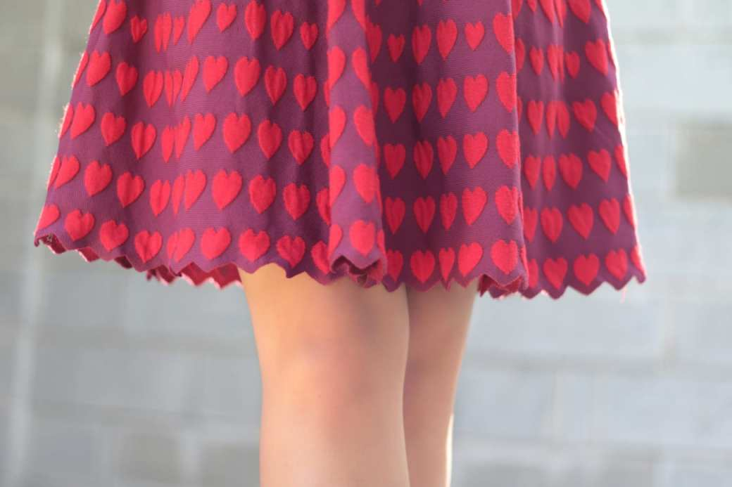 vintage comic book red hearts dress topfashion.com.ro old style pearls roxi rose (7)