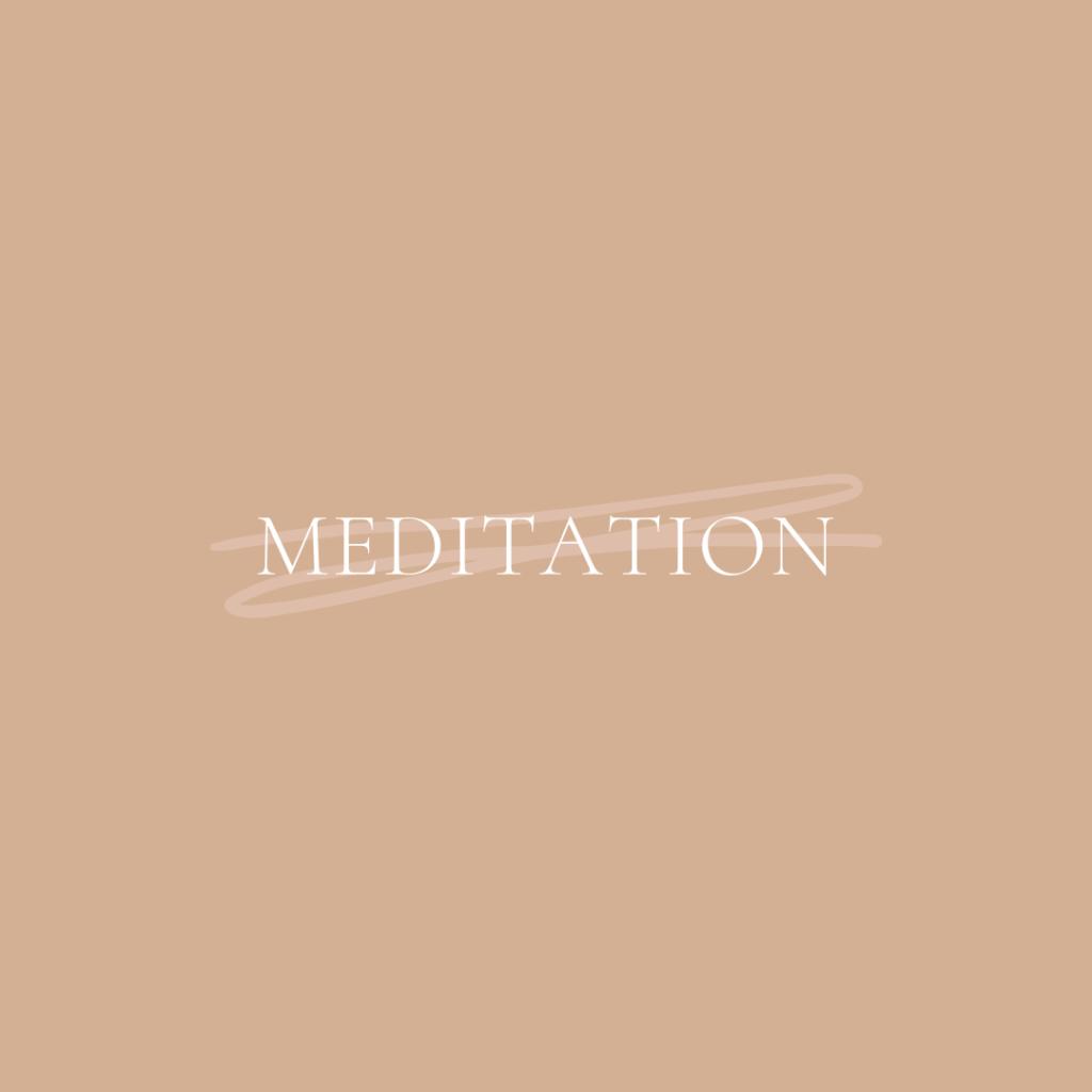 Start a meditation habit