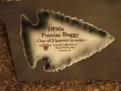 Pontiac buggy sign