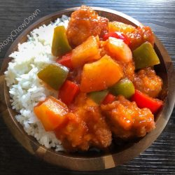 Sweet & Sour Chicken with white rice
