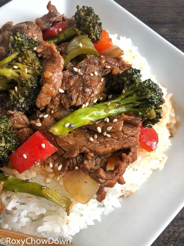 Asian-Style Beef and Broccoli Stir Fry Recipe by RoxyChowDown.com