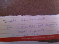 Kitchen Notes by Dana after Sunday pints.