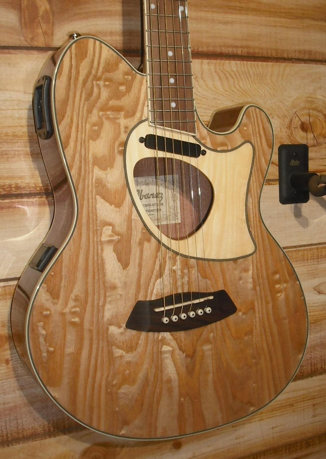 Ibanez Talman Tcm50 Acoustic Electric Guitar Natural High