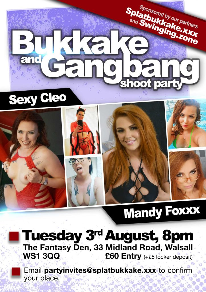 3rd August bukkake and gangbang with Sexy Cleo and Mandy Foxxx