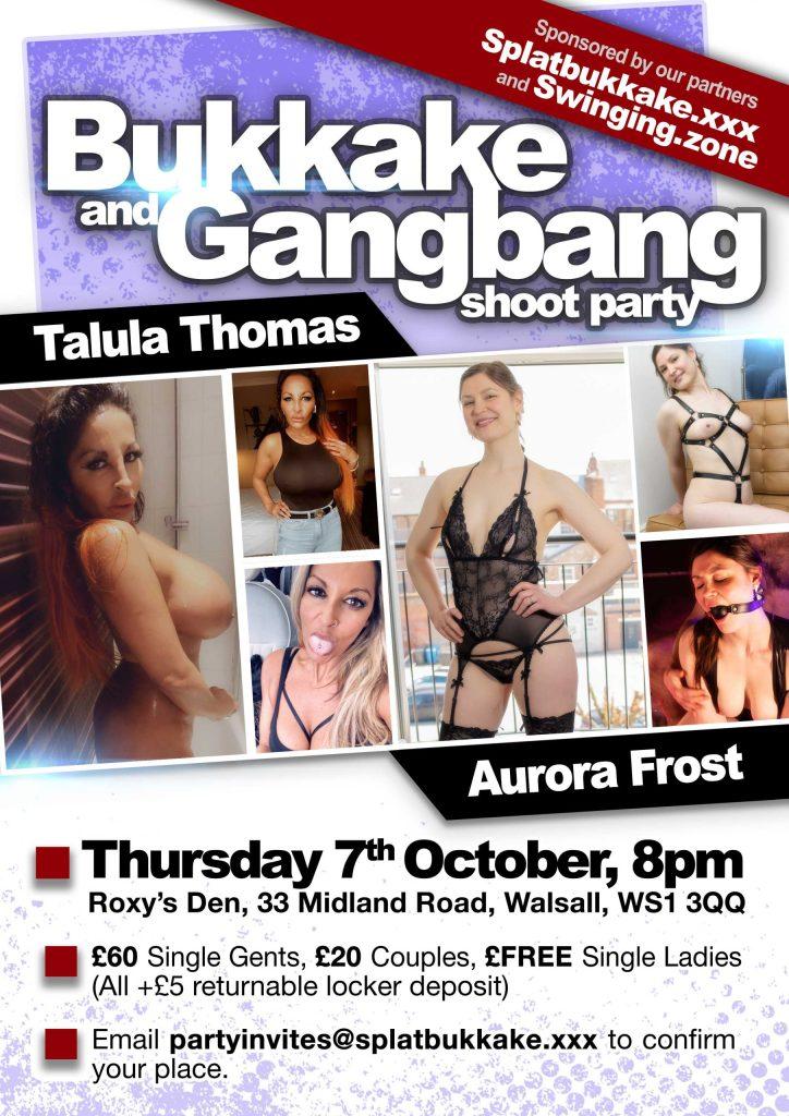 Oct 7th bukkake and gangbang with Talula Thomas and Aurora Frost