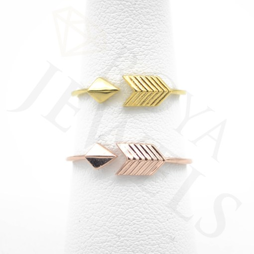 Adjustable Arrow Ring Rose Gold, Yellow