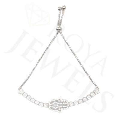 Glittering Hamsa Bracelet Hamsa Silver Bracelet Roya Jewels