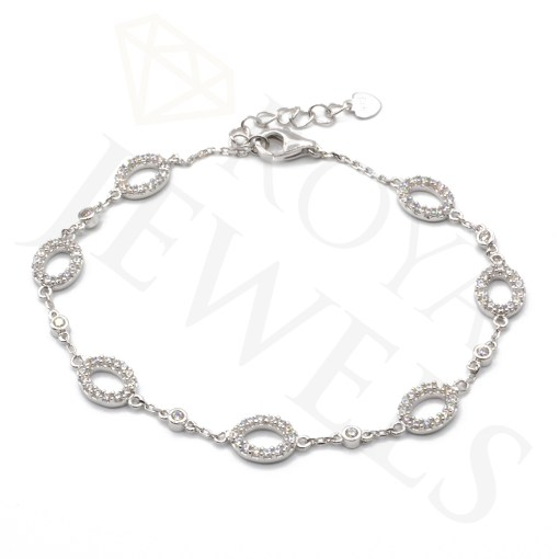Cubic Zirconia Circle Bracelet Silver Bracelet Roya Jewels