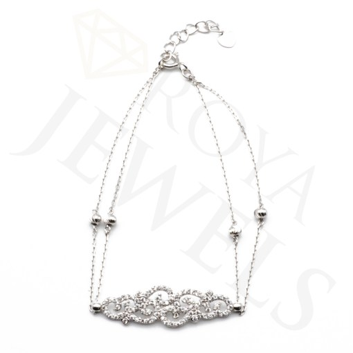 Antique Double Chain Bracelet Silver Bracelet Roya Jewels