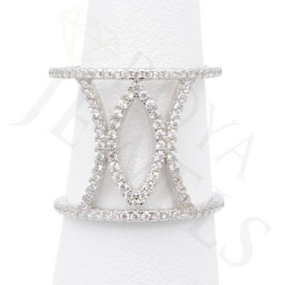 Open Marquise Ring Silver Ring Roya Jewels