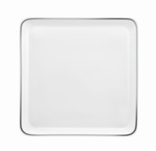 Assiette carrée Yaka Argentic - Médard de Noblat