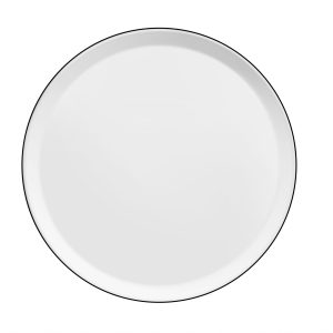 Assiette plate Yaka Noir - Médard de Noblat