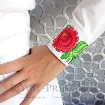 Дизайн машинной вышивки Элемент для цветочного бордюра