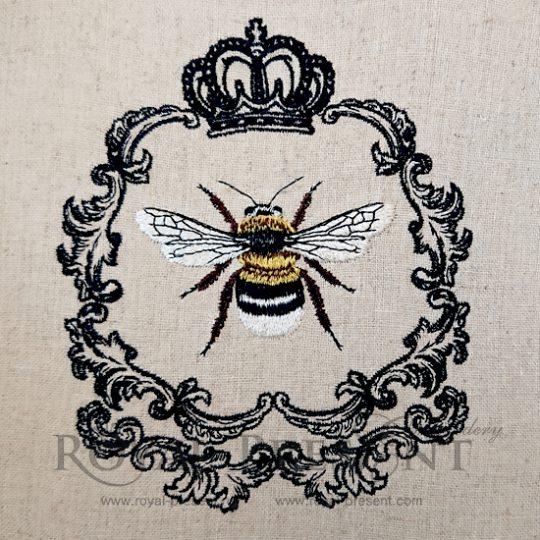 Дизайн машинной вышивки Королева Пчела