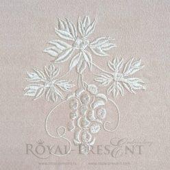 Дизайн машинной вышивки Однотонный виноград