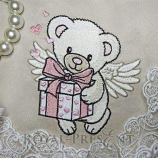 Дизайн машинной вышивки Мишка ангел