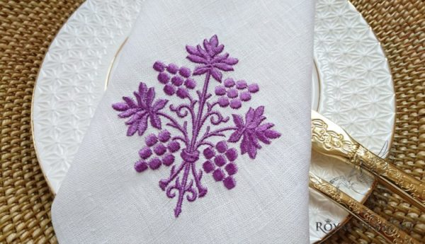 Дизайн машинной вышивки Пурпурный Виноград