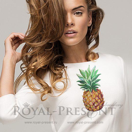 Дизайн машинной вышивки Ананас как у Dolce & Gabbana