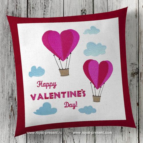 Набор дизайнов машинной вышивки День Святого Валентина