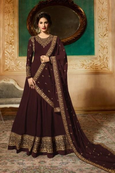 marvelous-brown-georgette-designer-embroidered-anarkali-suit