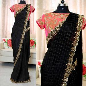 black-color-heavy-chanderi-cotton-embroidered-with-pearl-work-saree