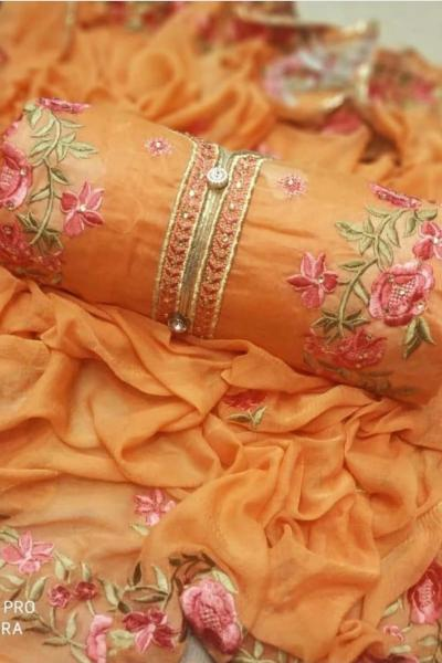 mesmerizing-orange-colored-embroidered-chanderi-silk-dress-material