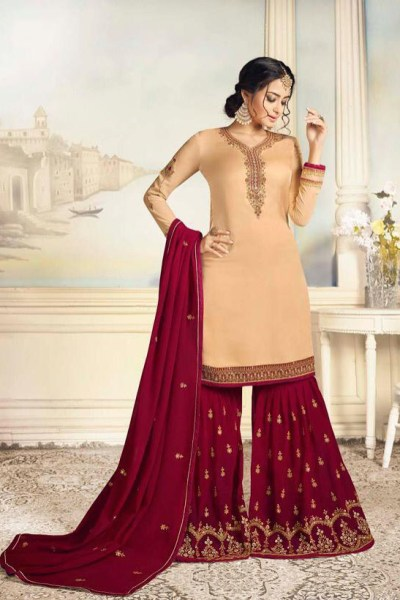charismatic-peach-color-satin-georgette-with-embroidered-work-plazo-suit