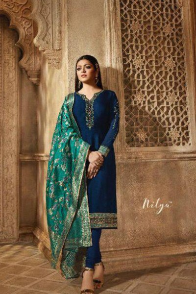 blooming-royal-blue-color-heavy-georgette-salwar-suit-with-banaras-dupatta