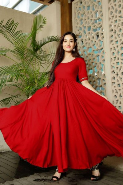 classic-floral-red-color-american-creep-silk-gown