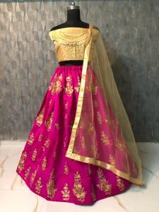 mesmerizing-pink-color-taffeta-silk-zari-embroidered-work-lehenga