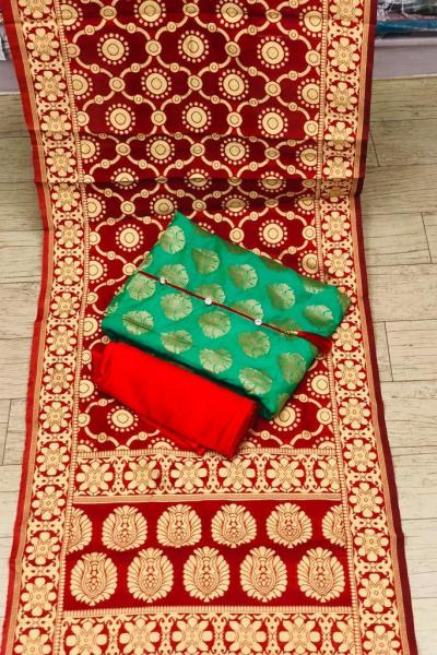 red-color-heavy-banarasi-festival-wear-dress-material