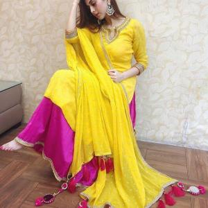 best-selling-yellowpink-color-exclusive-punjabi-style-salwar-suit-with-tassels (2)