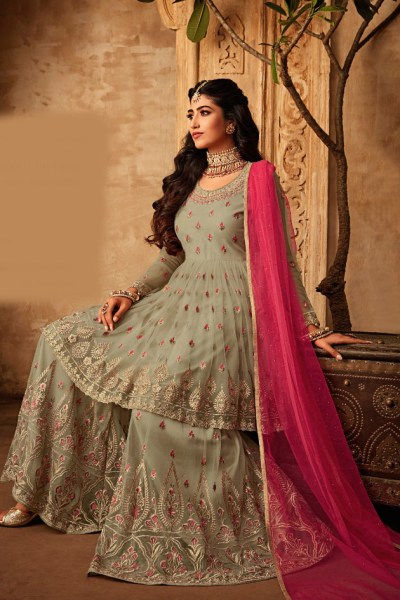 dazzling-olive-green-color-net-with-embroidery-work-salwar-suit