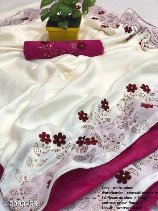 effective-white-color-zoya-silk-with-swaroski-diamond-work-border-saree