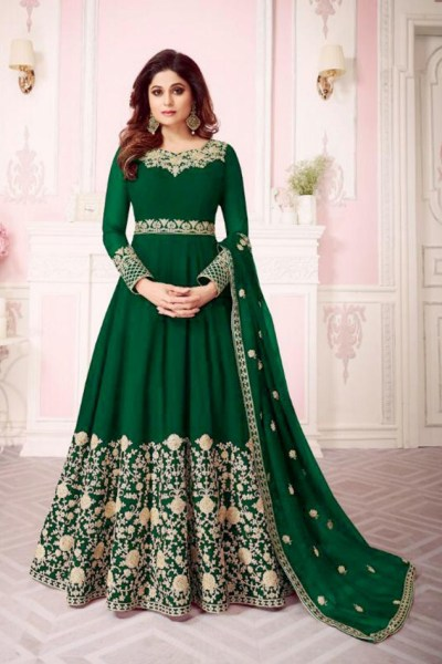 energetic-green-color-georgette-with-coding-embroidery-work-anarkali-suit