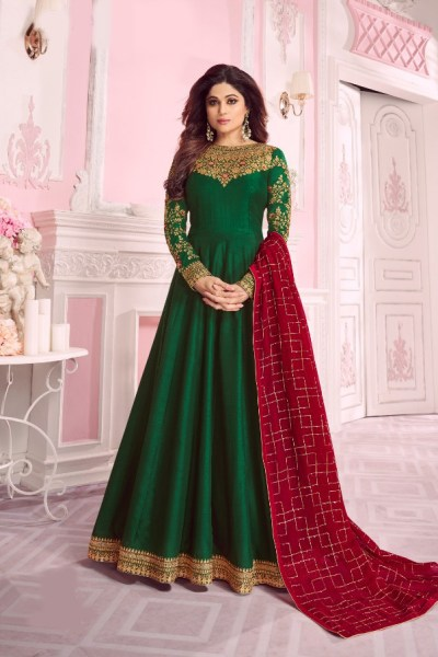 harmonious-green-color-pure-dola-silk-exclusive-festival-wear-anarkali-suit