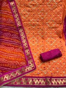 orange-color-chanderi-with-gota-work-salwar-dress-with-bandhni-dupatta