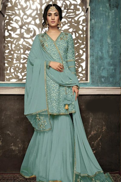 sky-blue-color-mono-soft-net-with-sequence-embroidery-cording-work-plazzo-suit