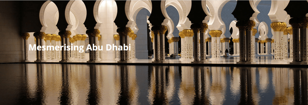 image banner of inside view of mosque in Abu Dhabi
