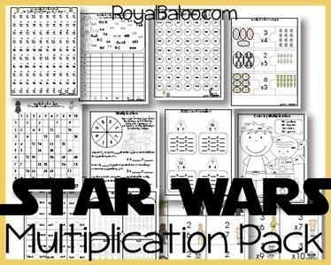 Star Wars Multiplication Printables For Hands On Math