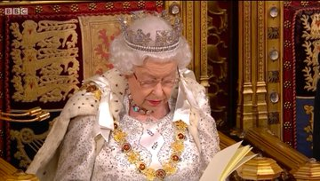 The Queen soldiers on through State Opening despite apparent cold