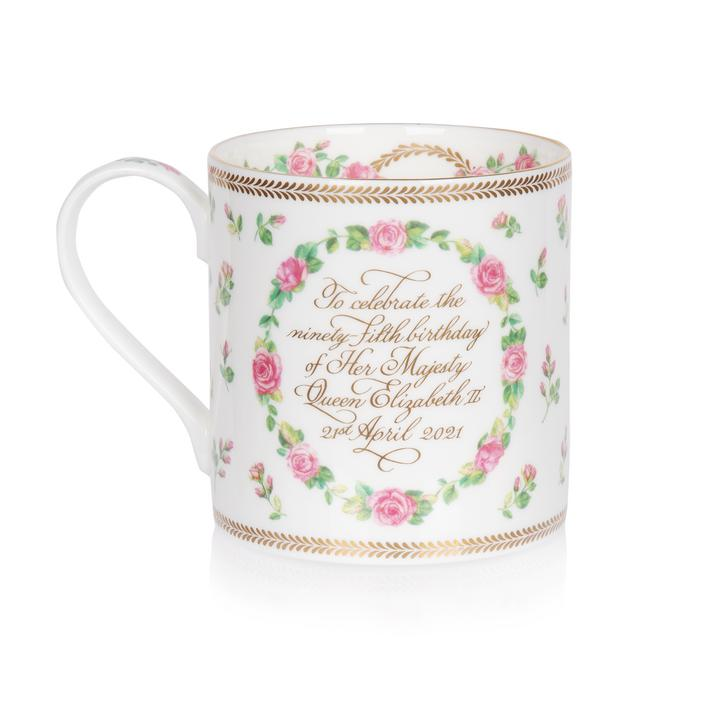 Mug from RCT marking the 95th birthday of The Queen